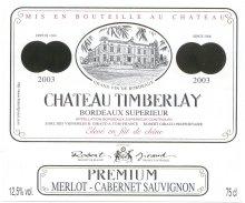 "Cuvée 2003 Premium ""CHATEAU TIMBERLAY"""