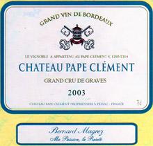 chateau pape clement grand cru classe de graves 2003