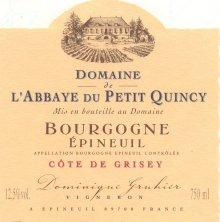 l'esprit du vin - Page 5 Bourgogne_epineuil_cote_de_grisey_abbaye_pt_quincy_domaine_gruhier