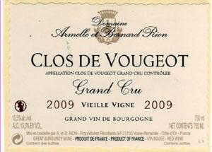 Armelle et Bernard Rion Clos de Vougeot Grand Cru