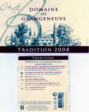 photo Bour Coteaux du Tricastin Cuvee Tradition