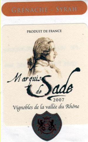 Les vignerons de Canteperdrix Cotes du Ventoux Marquis de Sade