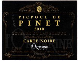 photo Cave de l Ormarine Coteaux du Languedoc Picpoul de Pinet